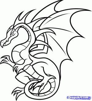 dragon outline simple easy drawings clipartmag