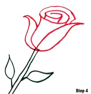 rose simple drawings easy roses draw clipartmag