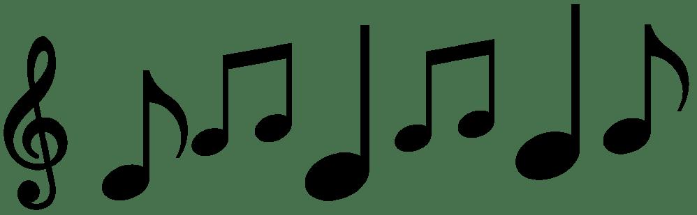 medium resolution of 1950x604 music notes clipart quavers