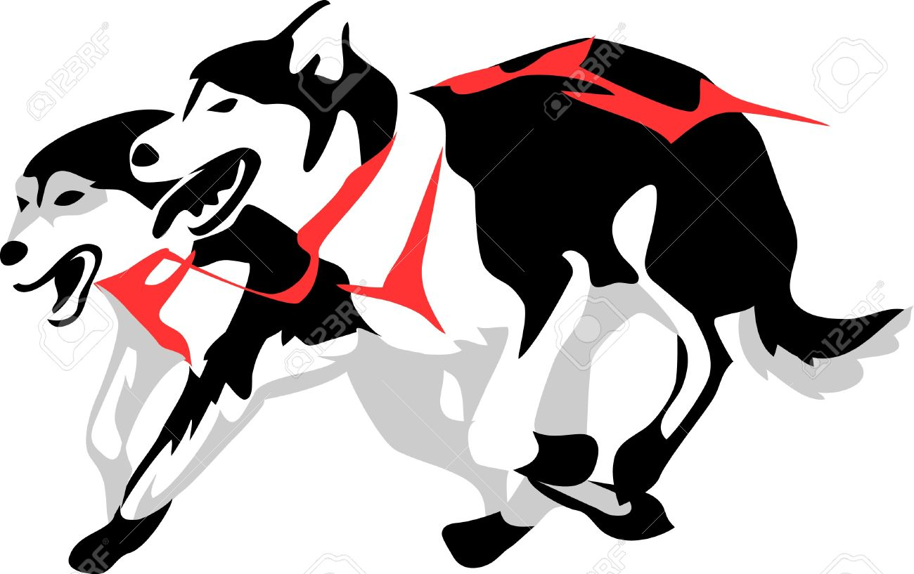 hight resolution of 1300x817 husky clipart sled dog