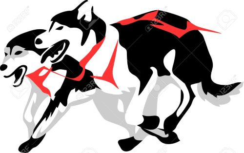 small resolution of 1300x817 husky clipart sled dog