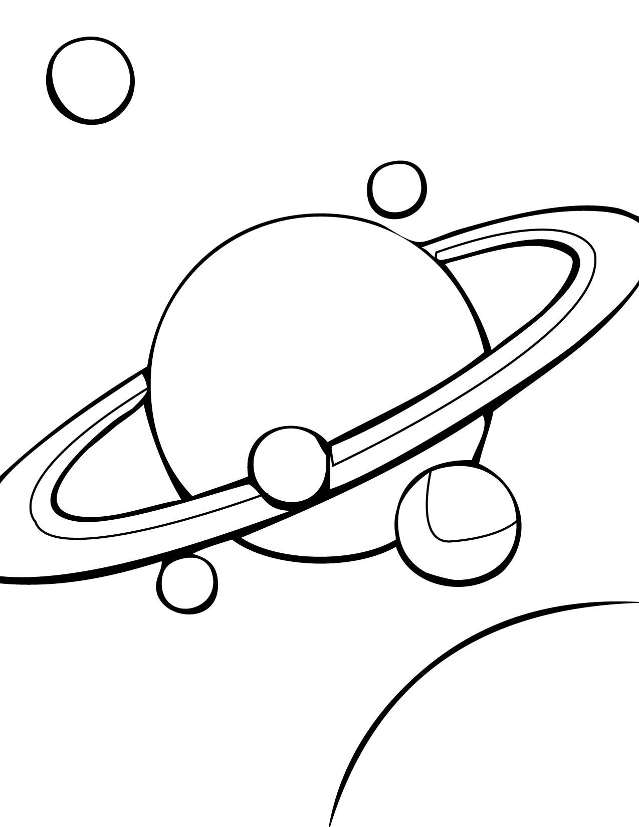 Solar System Black And White