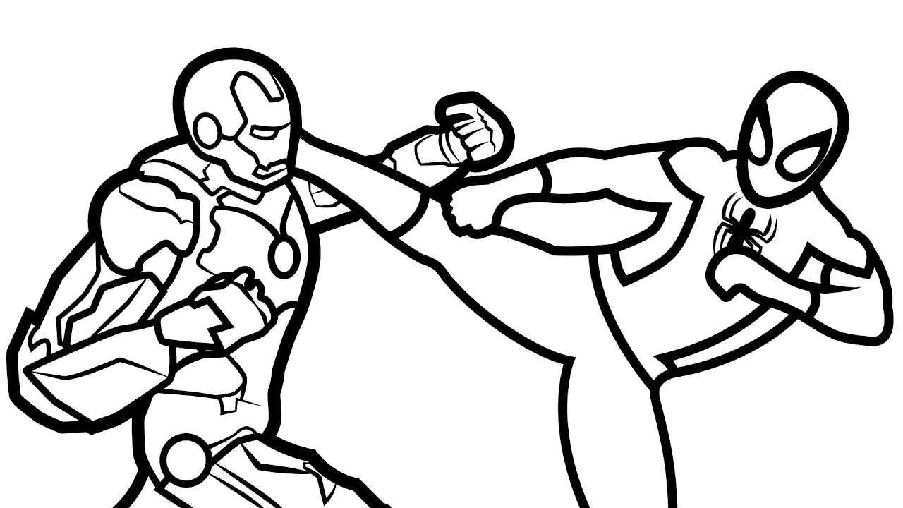 Iron Man Spiderman Coloring Pages   Novocom.top