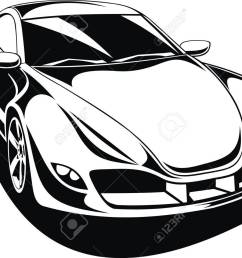 1300x961 my original sport car design in black and white royalty free [ 1300 x 961 Pixel ]