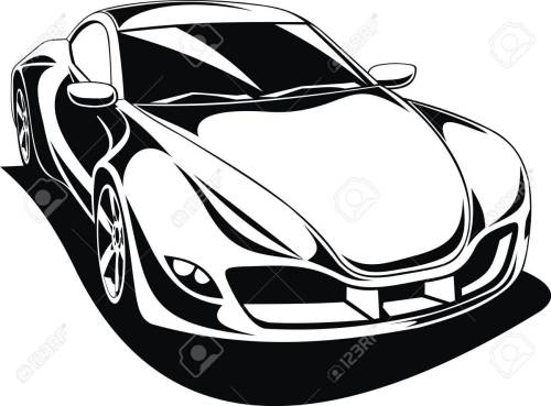 small resolution of 1300x961 my original sport car design in black and white royalty free