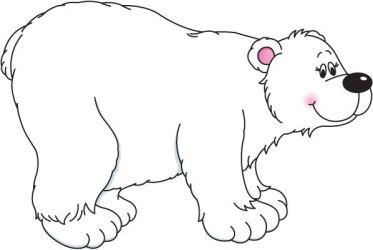 bear polar clipart standing clipartmag