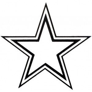 star outline printable free