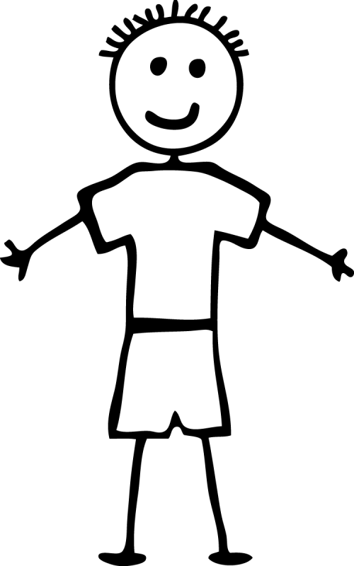 small resolution of 750x1200 boy clipart stick person