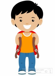 boy student clipart standing smiling clip stand bagpack kid short animated students bag cute clipartmag pack classroom graphics results clipartandscrap
