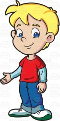 boy blonde student male clipart hair kindergarten welcoming cool looking clip cartoon vectortoons boys vector children cute drawing happy illustration
