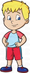 clipart student confident cartoon boy primary male looking athletic confidence clip boys students friendly clipartmag drawings shorts sports young vectortoons