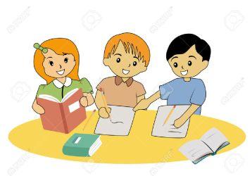 clipart study classmates students help together classmate working helpful ask vector problem friend hallway teacher someone pic estudiar