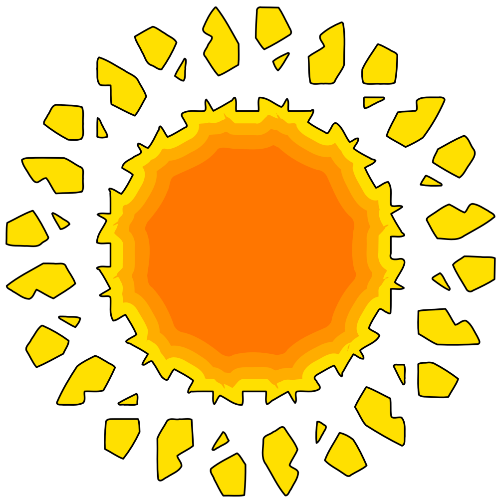 medium resolution of 1979x1979 sunshine clipart orange sun