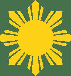 1024x1024 philipines clipart sun vector [ 1024 x 1024 Pixel ]