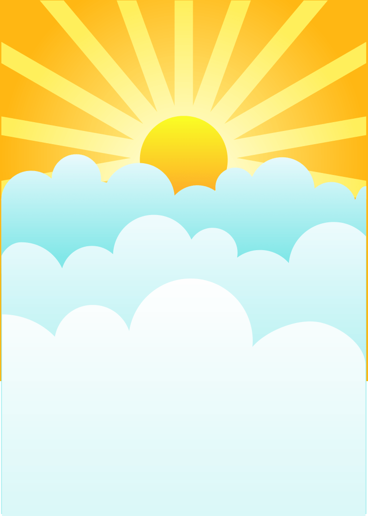medium resolution of 754x1056 clouds with sun clipart