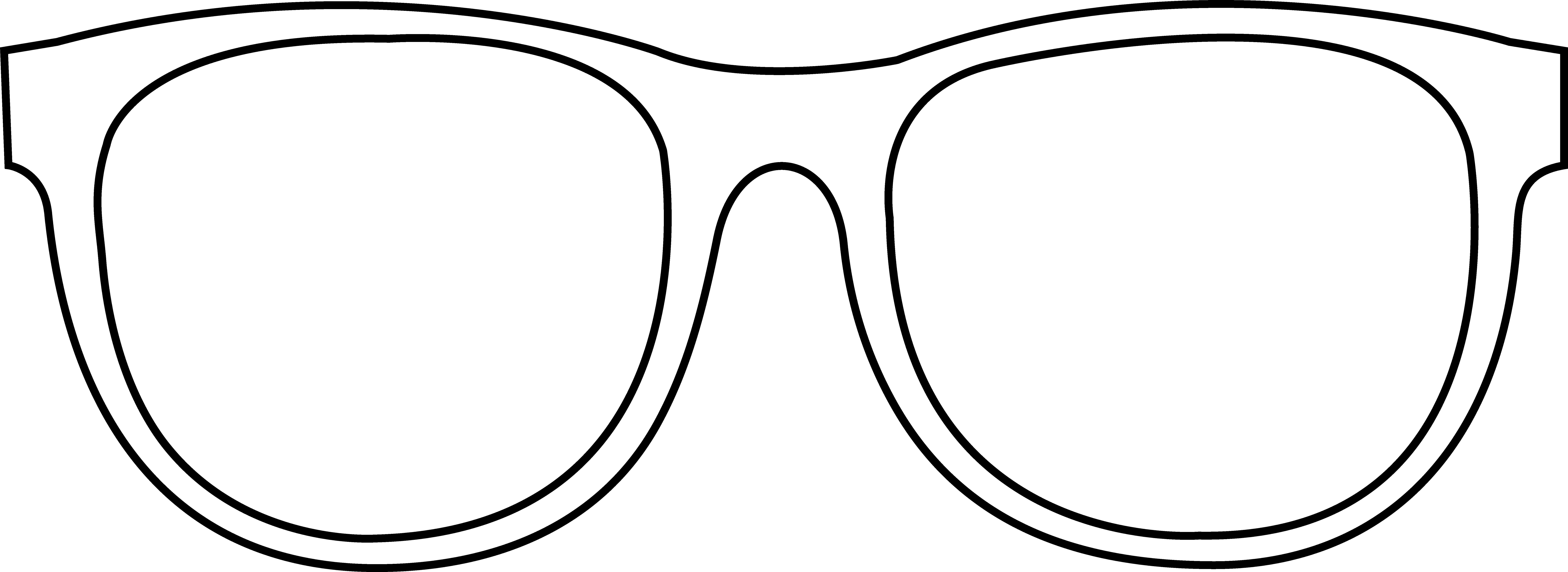 Sunglasses Clipart Black And White