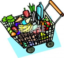 grocery supermarket clipart clip groceries basket pages clipartmag clipground royalty