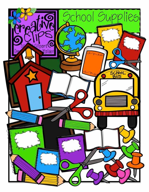 small resolution of 1236x1600 school supplies school supply giveaway clipart clipartfest