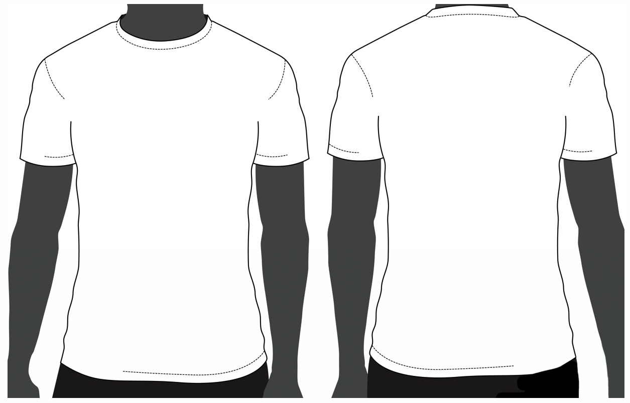T Shirt Template Printable Clipart