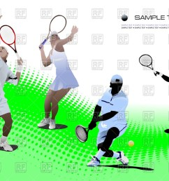 1200x847 tennis players on tennis court royalty free vector clip art image [ 1200 x 847 Pixel ]