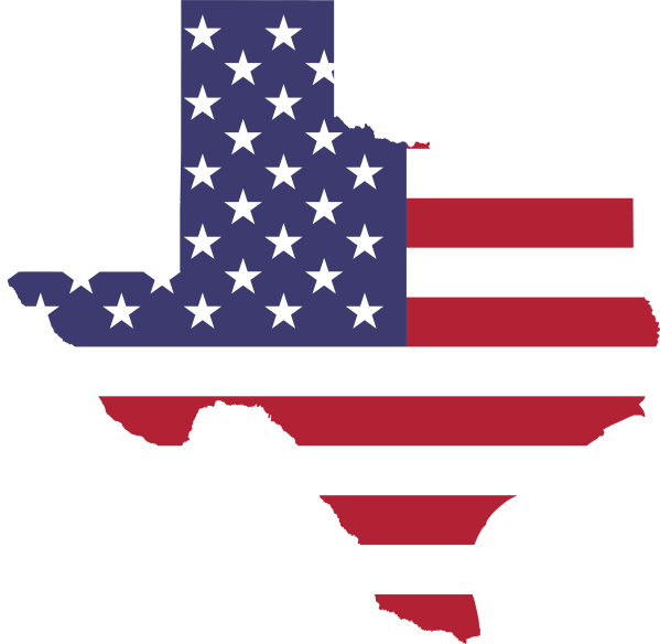 American Flag and Texas