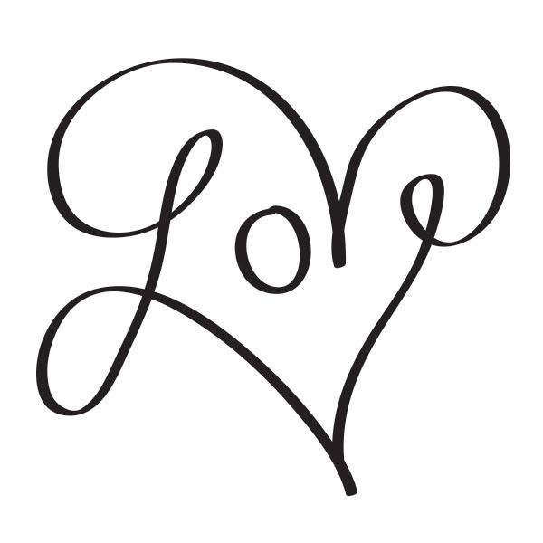 Download The Word Love In Cursive | Free download on ClipArtMag