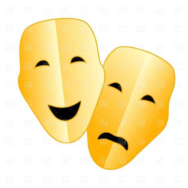 Comedy Tragedy Masks Clip Art Free