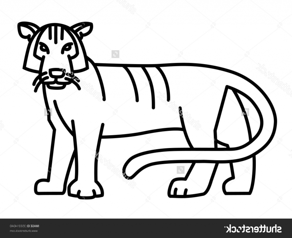 Tiger Clipart Easy 2 000 000 Cool Cliparts Stock Vector