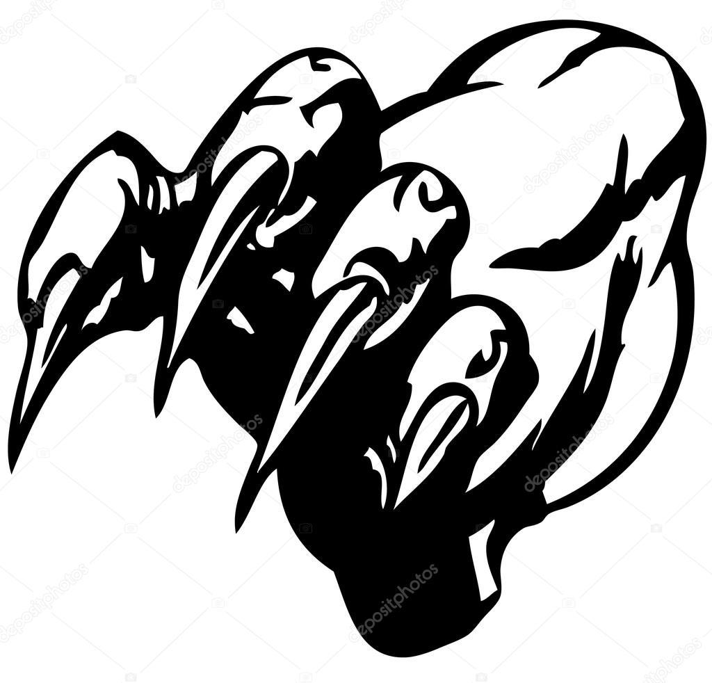 hight resolution of 1024x982 monster claw stock vector hakakatb