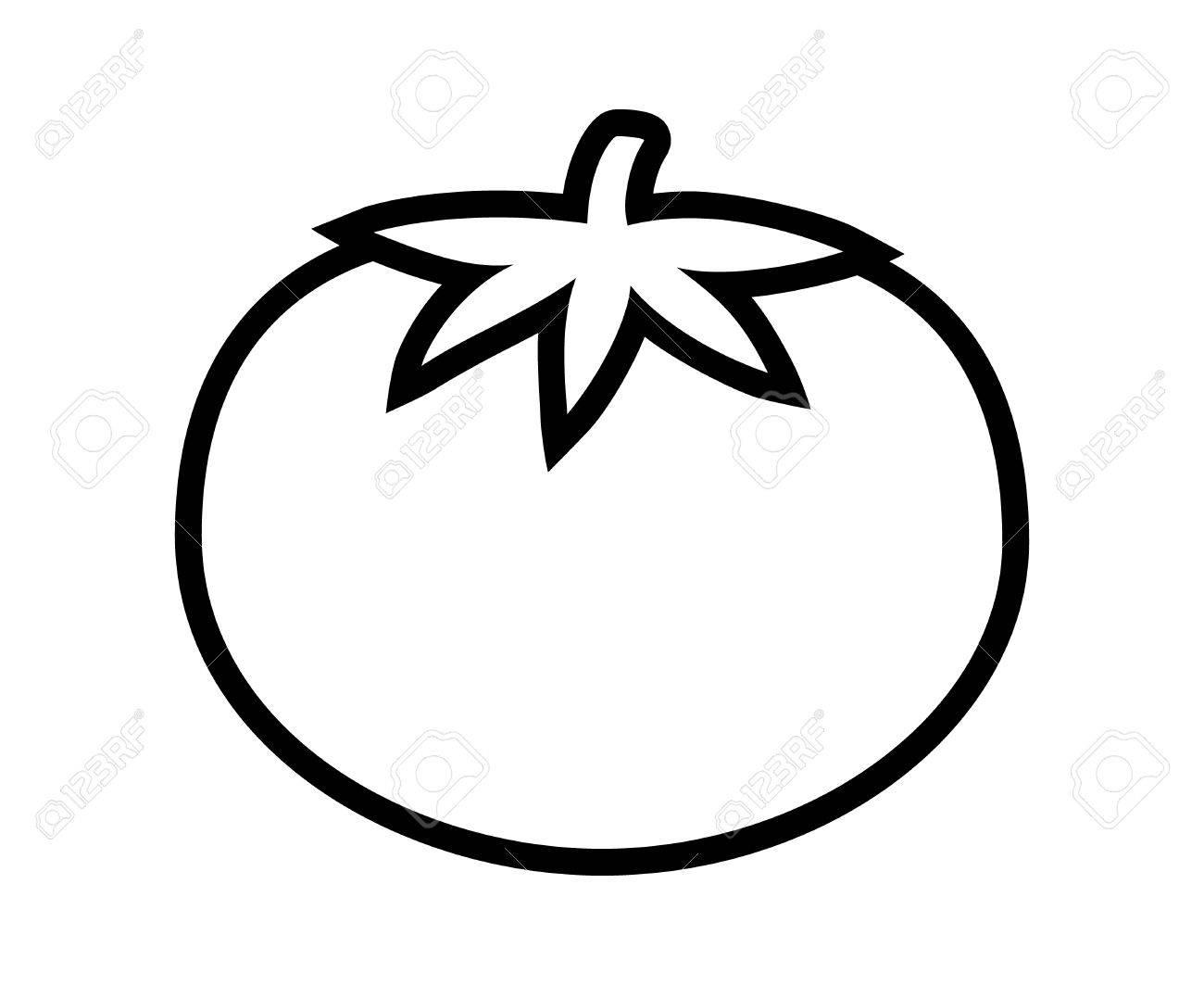 Tomato Clipart Black And White
