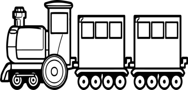 train coloring # 38