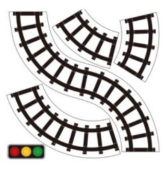 600x600 horizontal train tracks clipart 1080x1080 pretend play road train tape sticker for toddler activities [ 1080 x 1080 Pixel ]