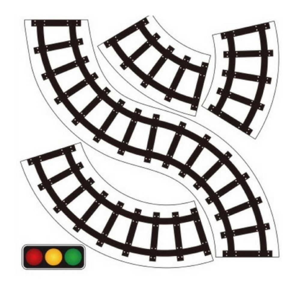 medium resolution of 600x600 horizontal train tracks clipart 1080x1080 pretend play road train tape sticker for toddler activities