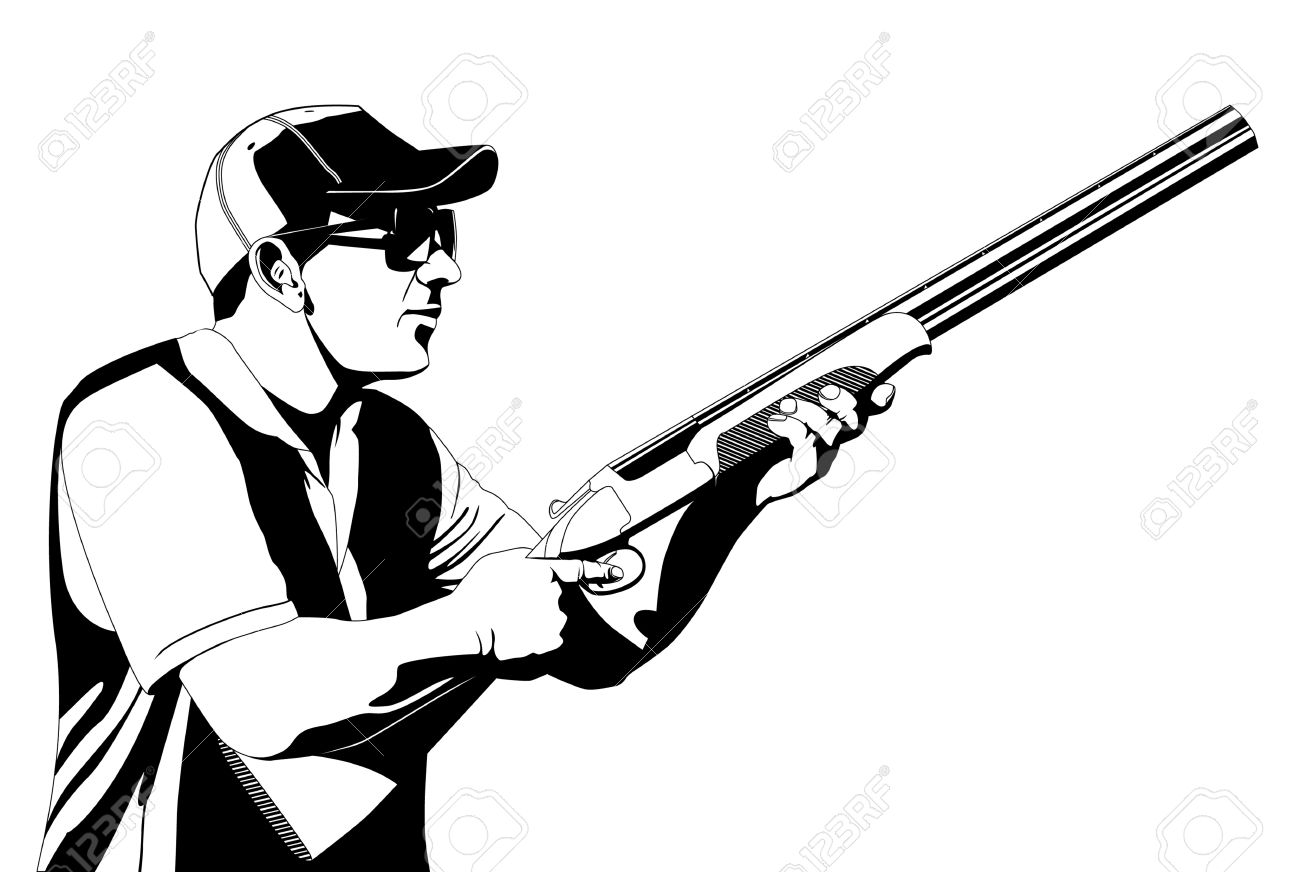 Trap Shooting Clipart
