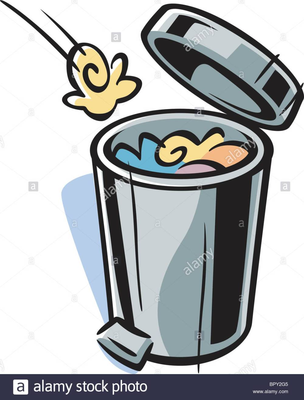 medium resolution of 1058x1390 cartoon drawing of a trash can stock photo royalty free image
