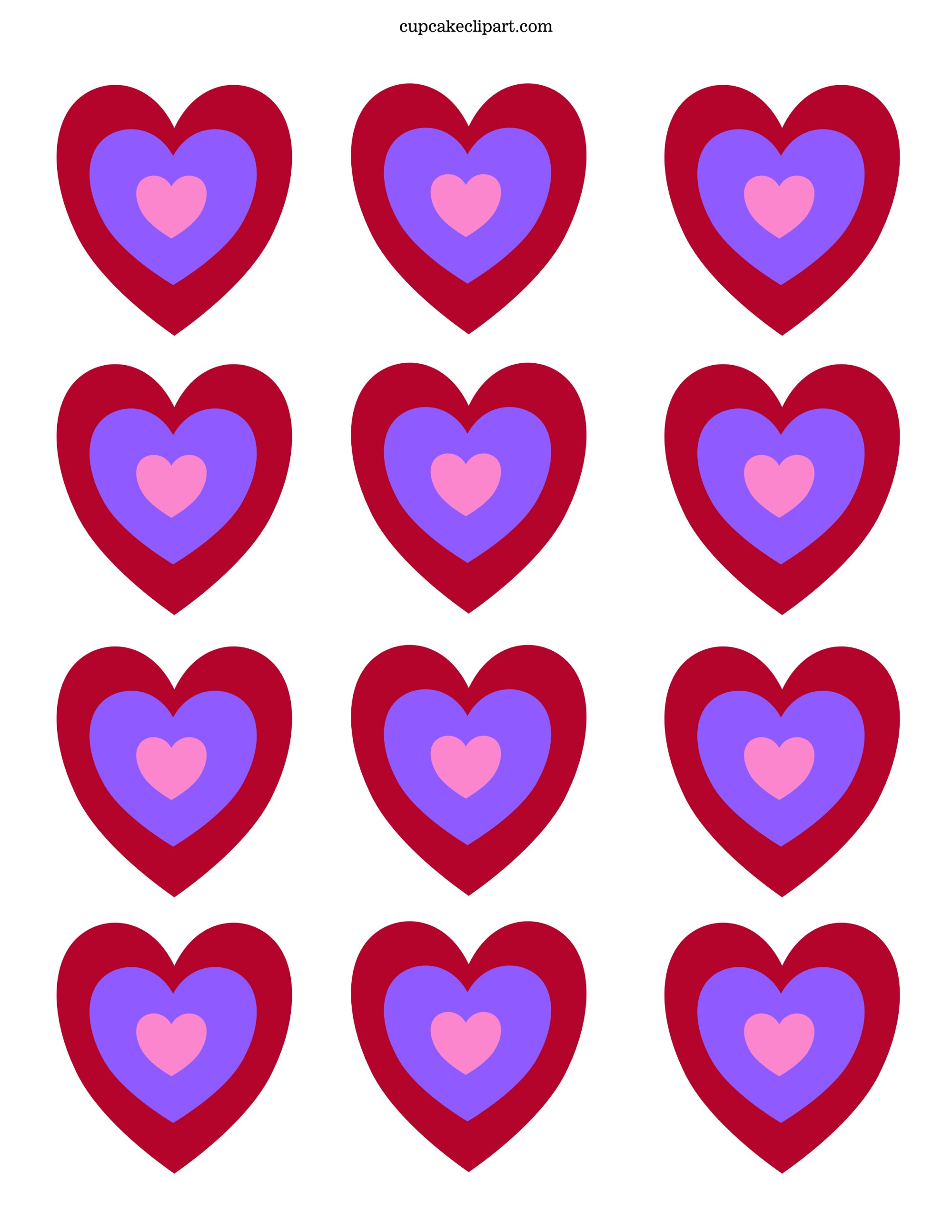 hight resolution of 2550x3300 valentine s day printable cupcake topper cupcake clipart