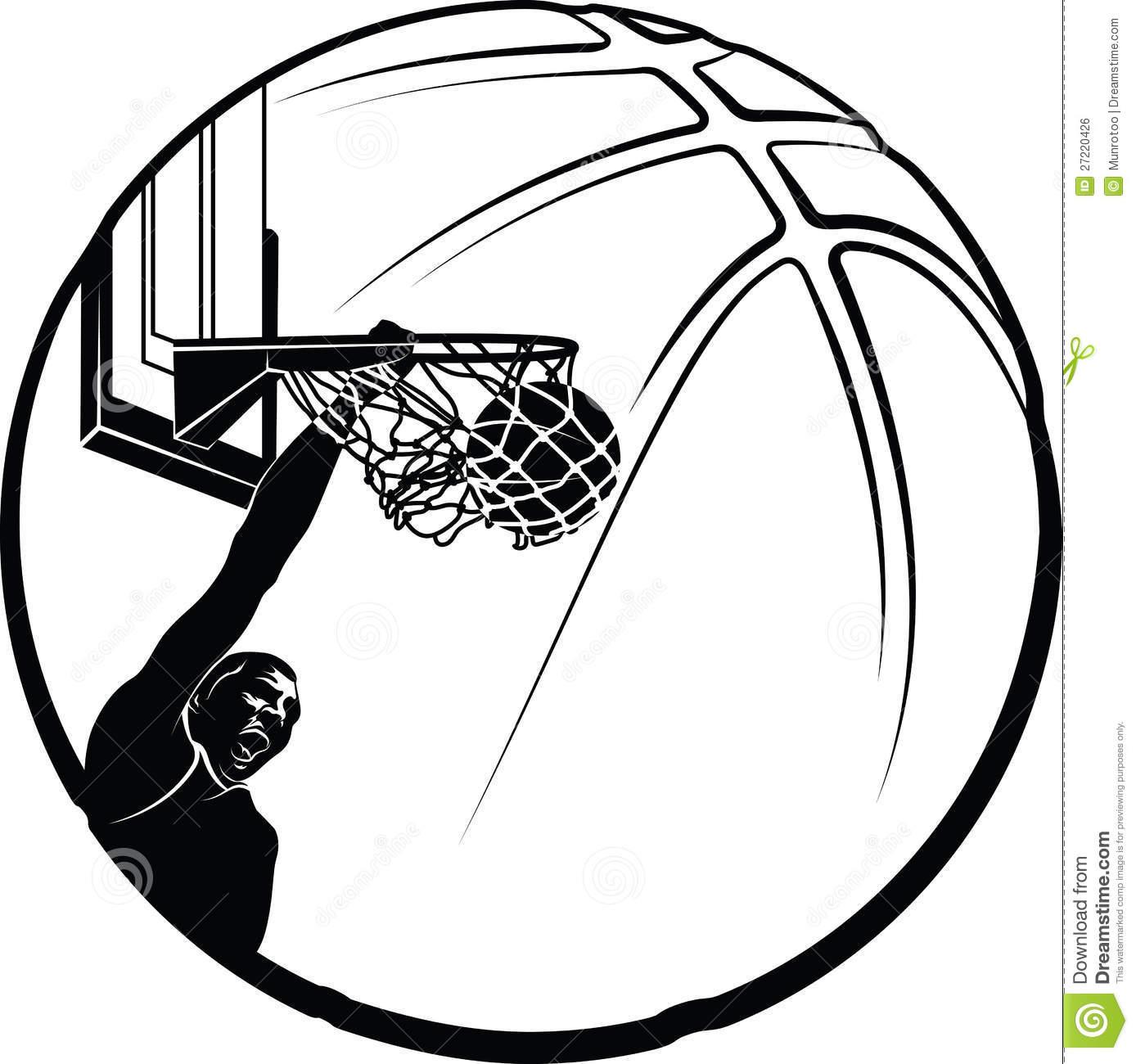 Vector Basketball Clipart
