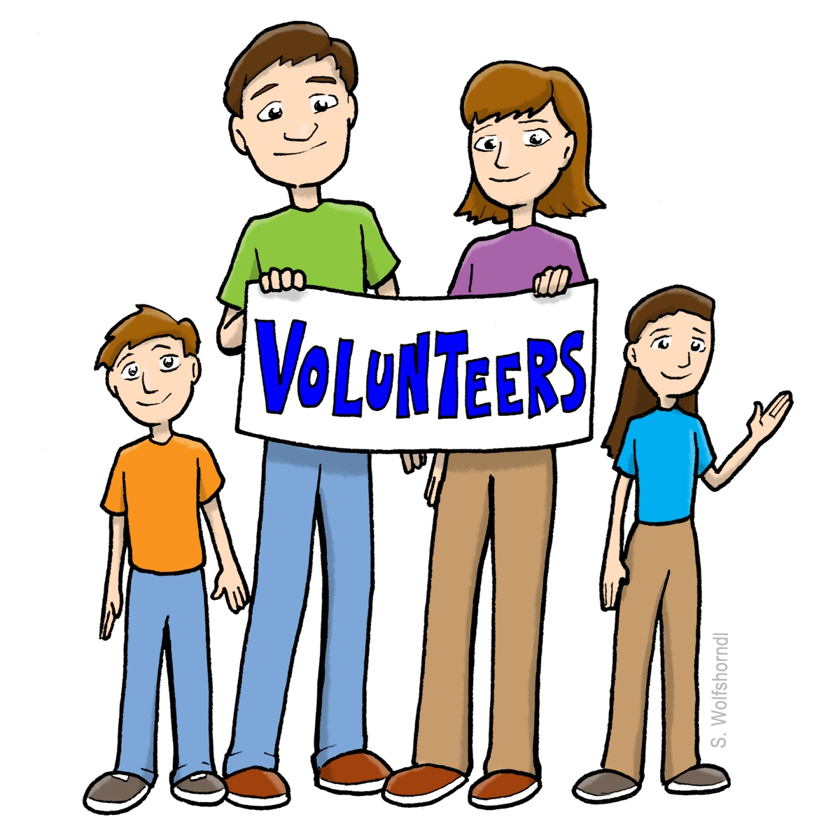 hight resolution of 1200x1200 volunteers clip art black and white free clipart