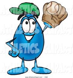 1024x1044 clip art of a friendly water drop mascot cartoon character [ 1024 x 1044 Pixel ]