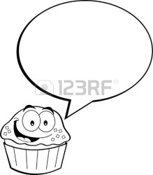 watermelon cupcake cartoon caption clipart illustration balloon clip lineart bowling clipartmag line