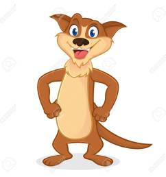 1300x1300 weasel cartoon mascot smiling isolated in white backround royalty [ 1300 x 1300 Pixel ]