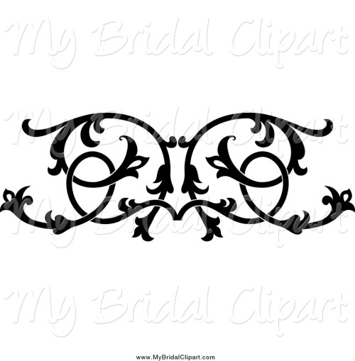 small resolution of 1024x1044 bridal clipart of a black and white ornate floral wedding