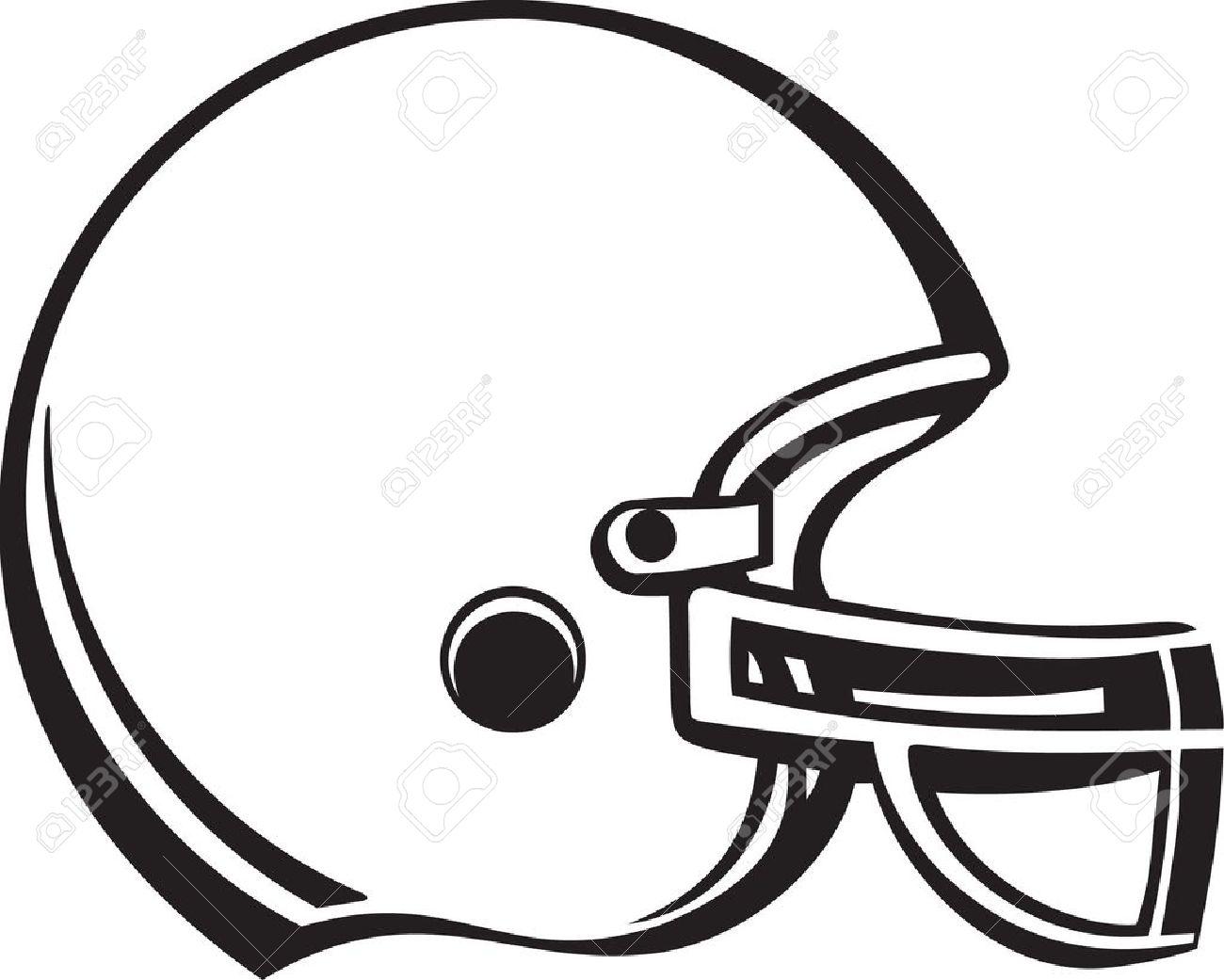 White Football Helmet Clipart