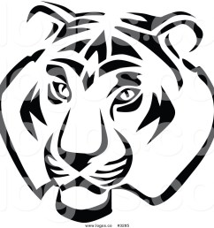 1024x1044 royalty free vector of a black and white tiger head logo by vector [ 1024 x 1044 Pixel ]