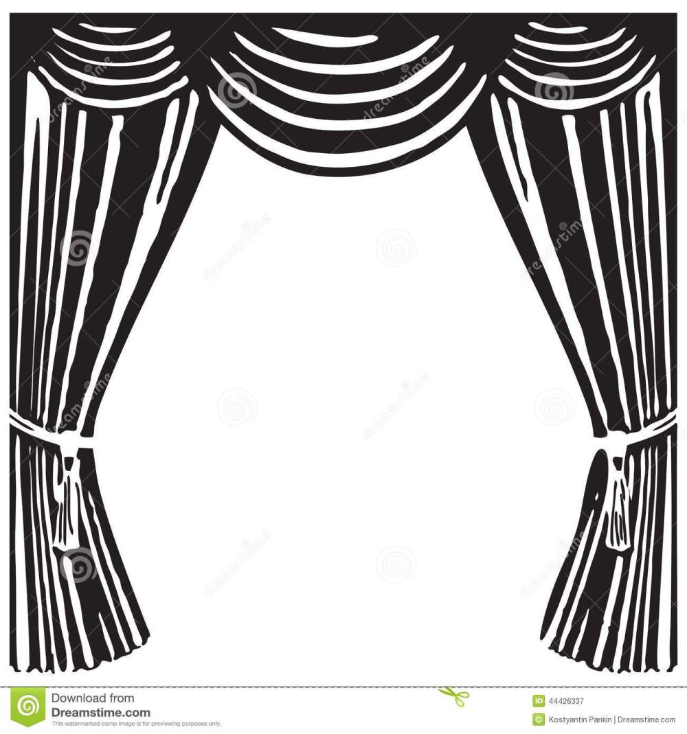 medium resolution of 1300x1390 curtains clipart black and white