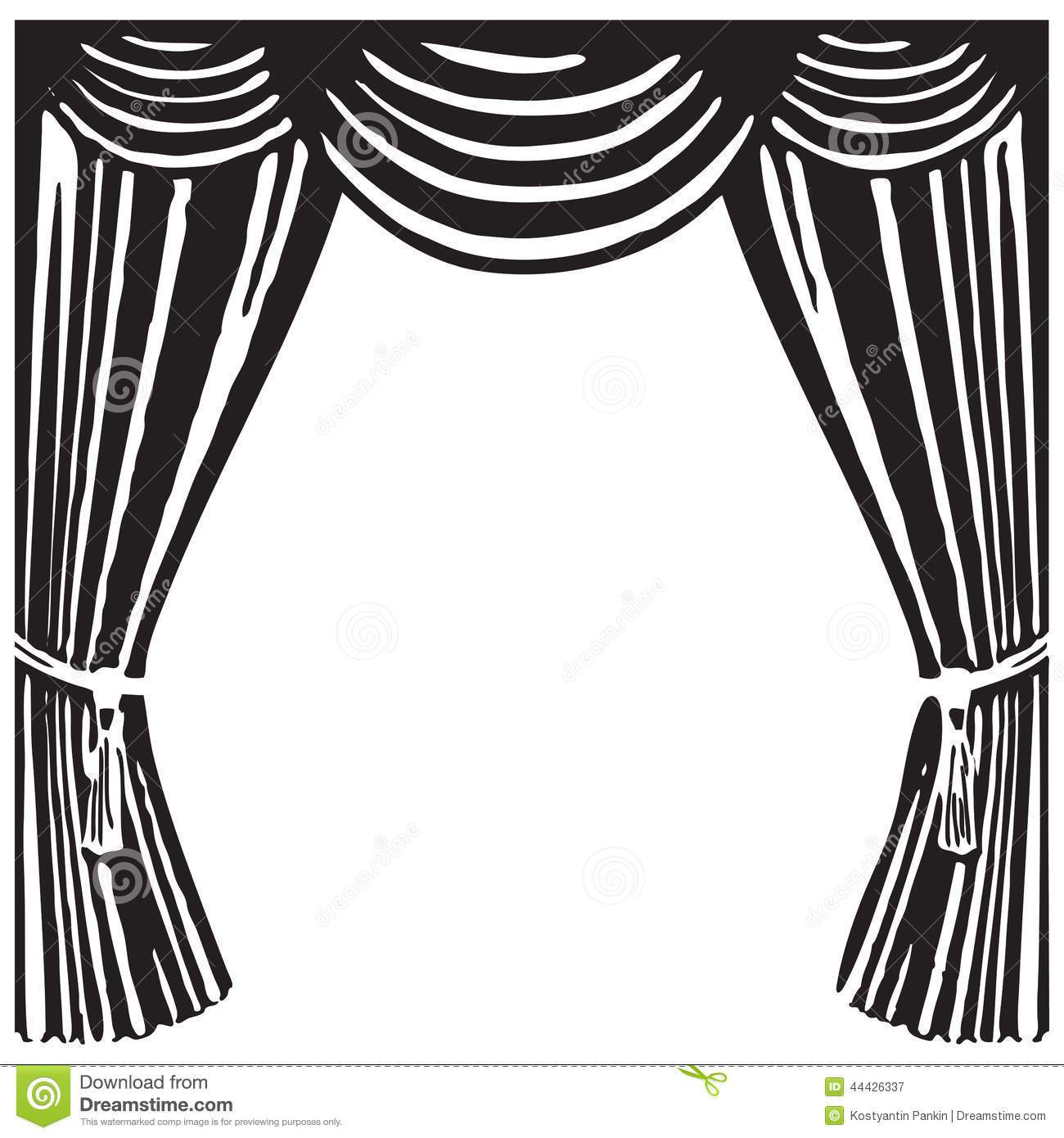 hight resolution of 1300x1390 curtains clipart black and white