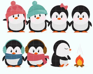 penguin winter clipart cold weather clip january clipartmag