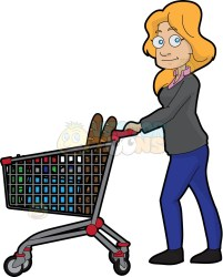 shopping clipart grocery emoji food minor woman cart pantry groceries clipartmag clipground buying dumielauxepices