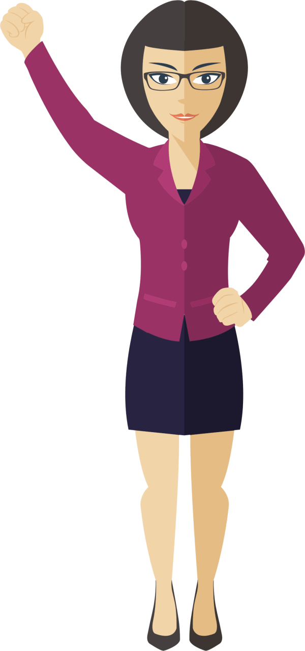 Woman Standing Clipart Free