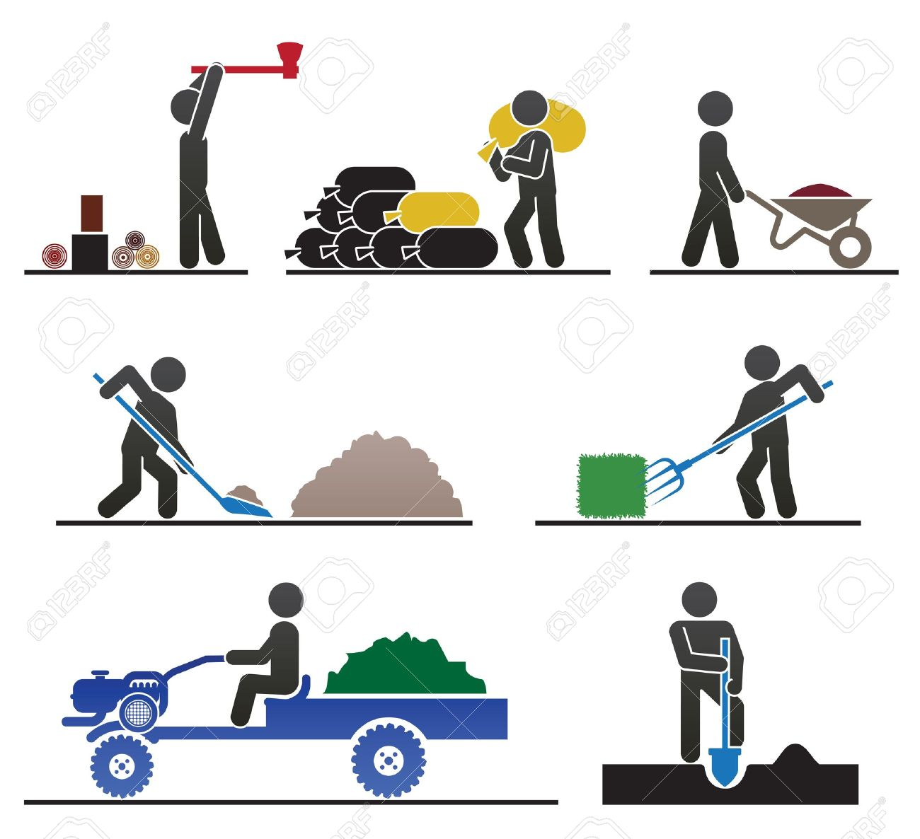 hight resolution of 1300x1186 hard working people clipart